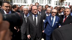 President Francois Hollande joins world leaders in a solidarity march in the Tunisian capital