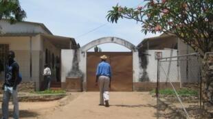 L'entrée de l'hôpital Nossa Senhora da Paz, à Cubal, en Angola.