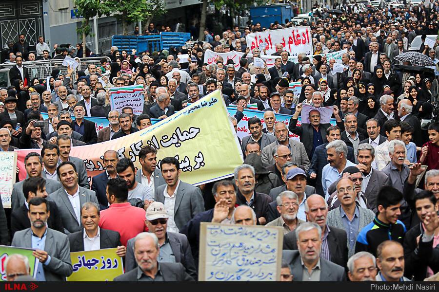 برگزاری روز کارگر در تهران.