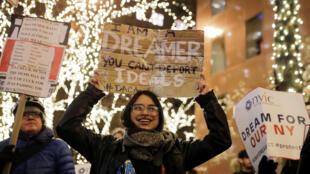 Một cuộc biểu tình ủng hộ chương trình DACA tại New York ngày 10/01/2018.