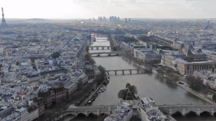 Captura de pantalla del video de la Prefectura de París.