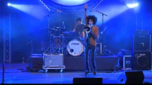 Groupe du rap marocain N3rdistan en concert.