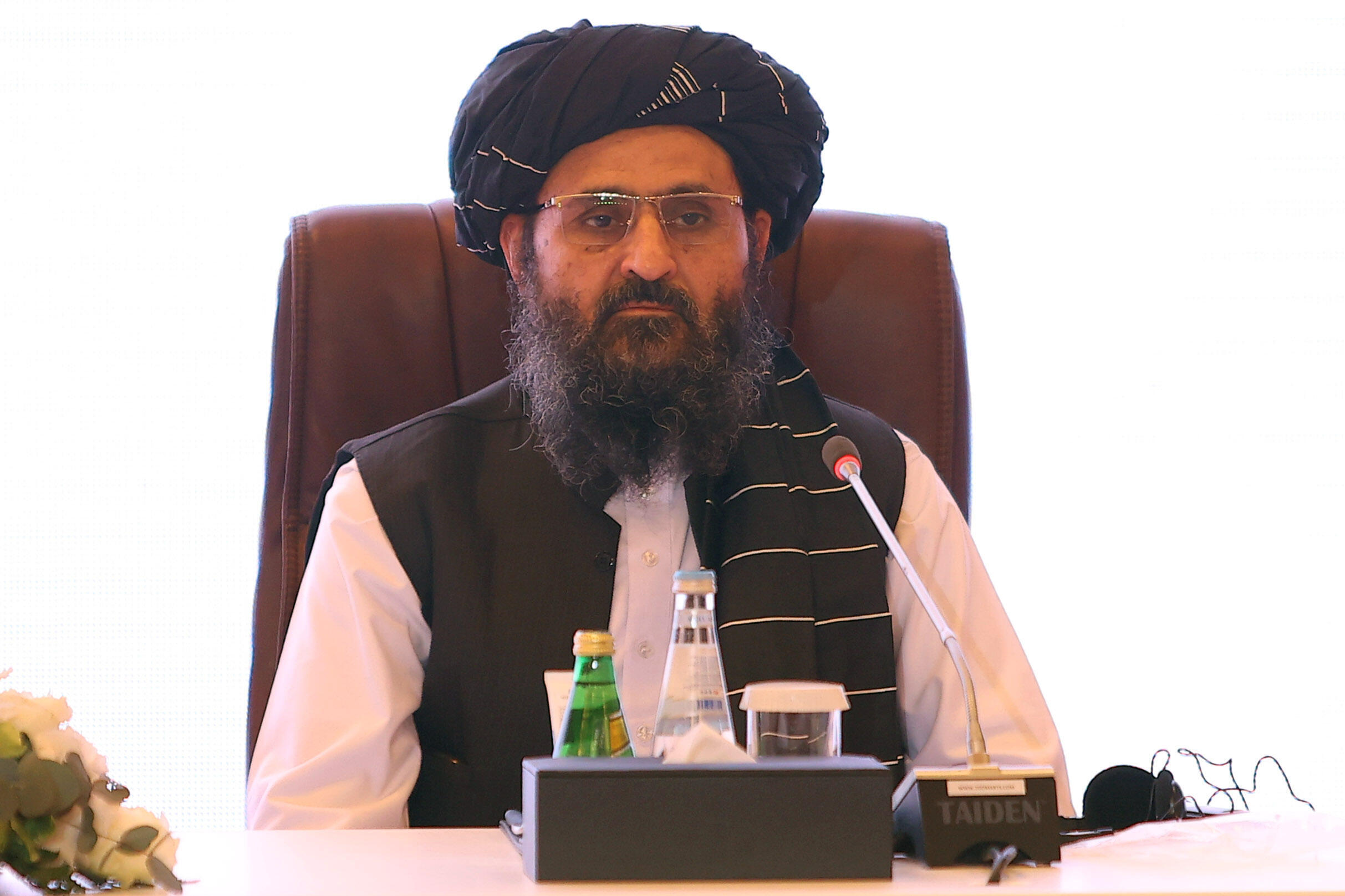 Taliban co-founder Abdul Ghani Baradar (pictured in Doha in July 2021) released an audio statement to squash rumours that he had been killed in a shootout between rival factions in Kabul
