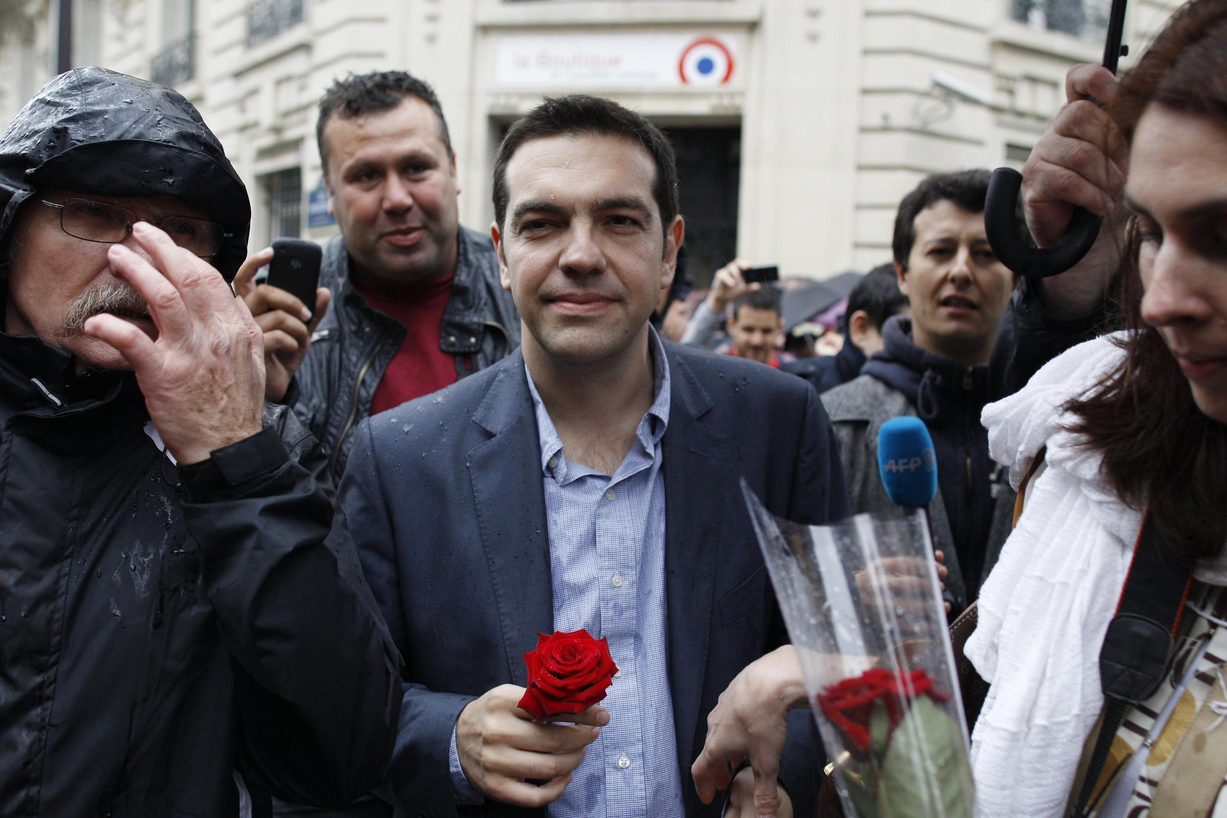 Alexis Tsipras, head of Greek Syriza party, attends a gathering organized by the French radical left in Paris, 21 May, 2012