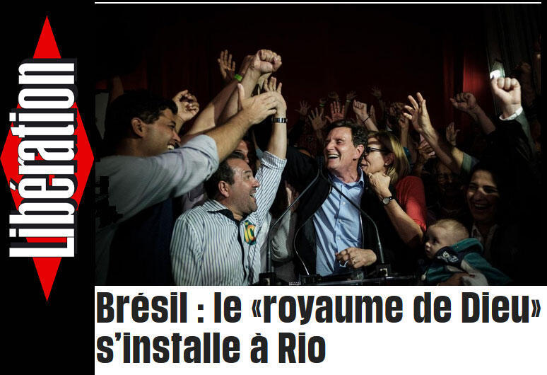 O jornal Libération publica matéria sobre Marcelo Crivella