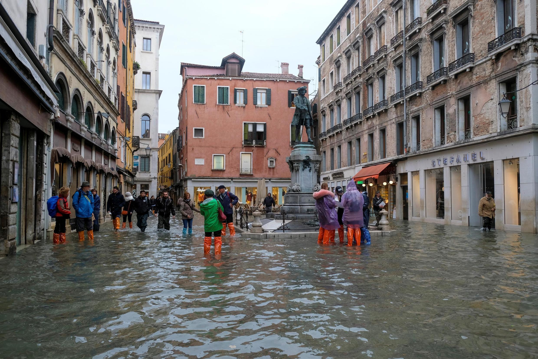Las calles de Venecia sumergidas este viernes 15 de noviembre de 2019.
