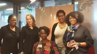 Charlie Dupiot et ses invités du jour : Aïssa Maïga, Mrs Roots, Diariatou Kebe et Roxane Yap.