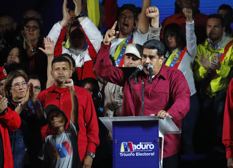 Николас Мадуро на митинге своих сторонников после выборов 20 мая 2018 г.