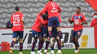 Les Lillois se sont montrés impitoyables face à leurs voisins du RC Lens, écrasés 4-0 à Villeneuve-d'Ascq, le 18 octobre 2020
