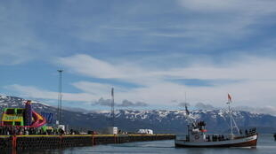 冰岛Dalvik地区的一座小渔村