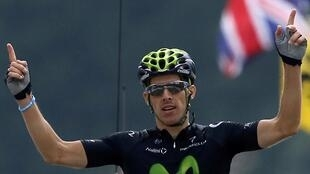 O Português Rui Costa, vencedor da 19° etapa da Volta a França  2013.
