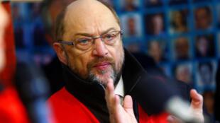 Lãnh đạo đảng Dân Chủ Xã Hội (SPD) Martin Schulz đang trở thành tâm điểm để giải tỏa bế tắc chính trị Đức. Ảnh chụp tại Berlin ngày 23/11/2017.