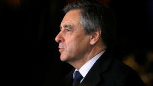 François Fillon, le candidat du parti de droite Les Républicains (LR) à la présidentielle, le 9 janvier 2017 à Paris.