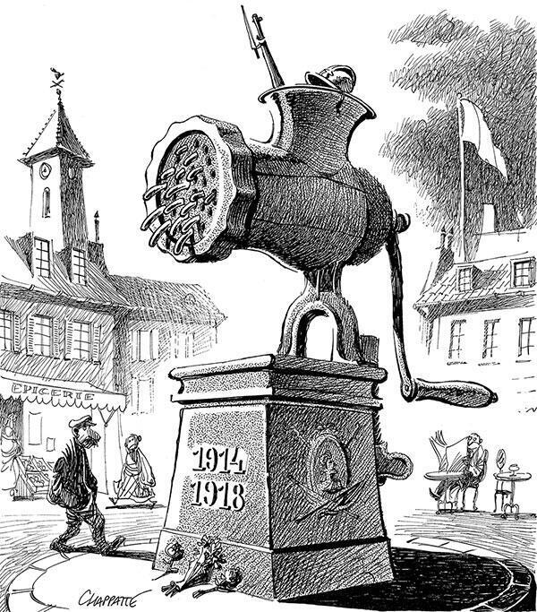 2014, centenaire de la Première Guerre mondiale - Dessin de Chappatte