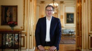 Le président serbe Aleksandar Vučić, à Paris, le 10 juillet 2020.