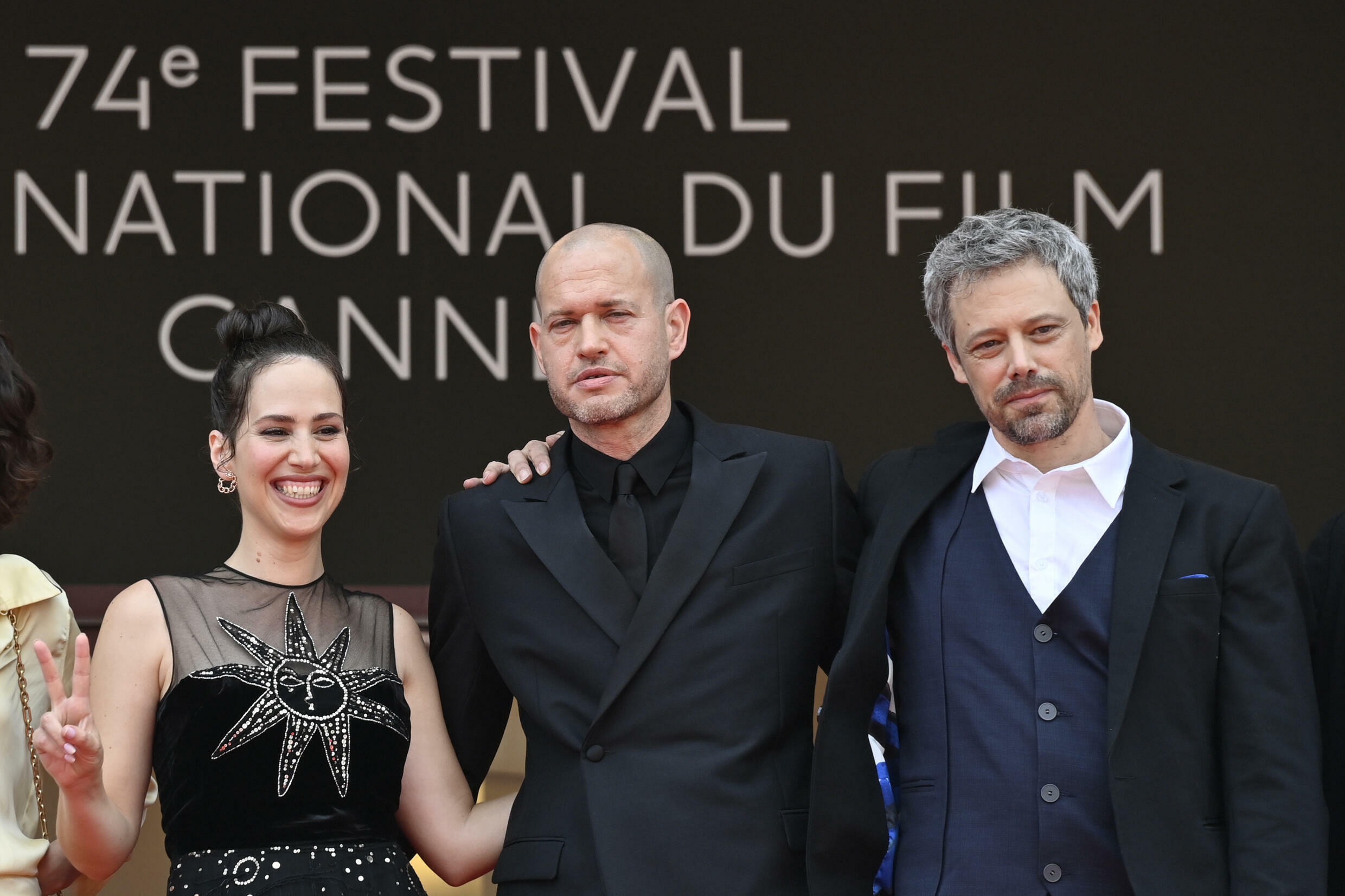 Israeli director Nadav Lapid (centre) takes aim at 'censorship from within'