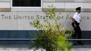 Đại sứ quán Hoa Kỳ tại Berlin. Ảnh chụp ngày 10/07/2014.