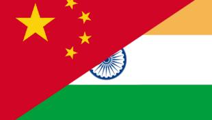 中印兩國國旗