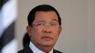Le Premier ministre Hun Sen à Phnom Penh, au Cambodge, le 19 mars 2017.