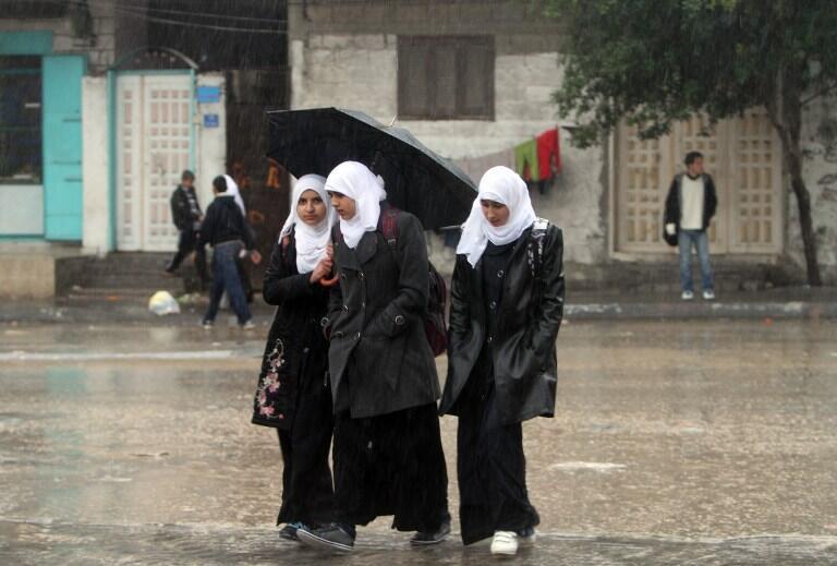 Palestinian schoolgirls in Gaza City