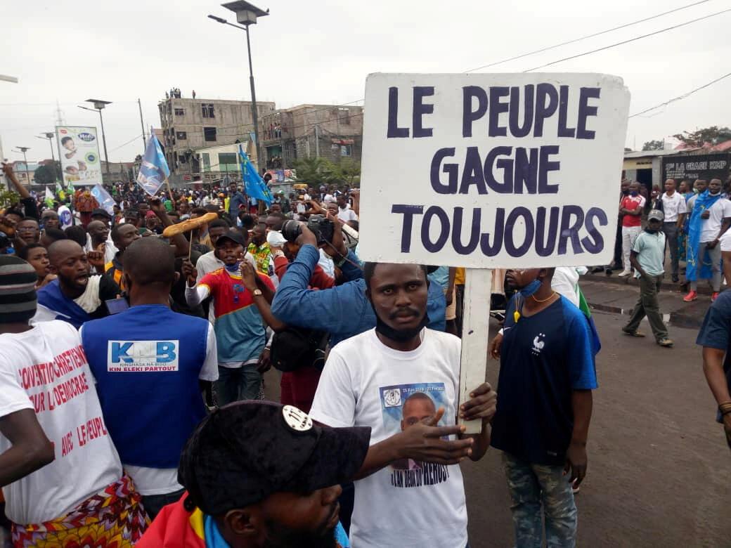 Manifestation contre la nomination de Ronsard Malonda à la tête de la Céni, le 13 juillet à Kinshasa.