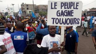 Précédente manifestation contre la nomination de Ronsard Malonda à la tête de la Céni, le 13 juillet à Kinshasa.
