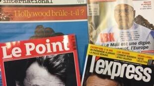 Capas das revistas francesas de 9 de Dezembro de 2017