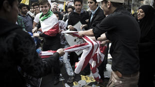 La manifestation anti-américaine a rassemblé plus de monde que ces dernières années.