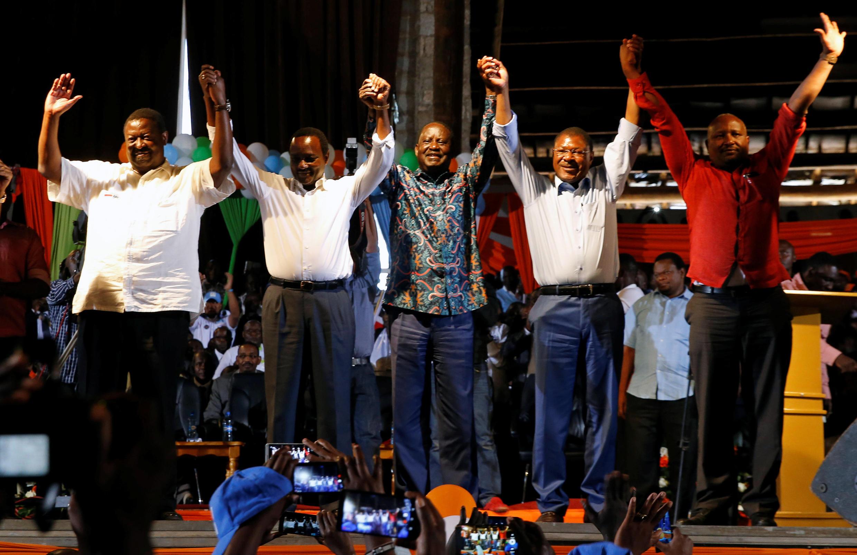 Viongozi wanaounda muungano wa vyama vya upinzani NASA nchini Kenya