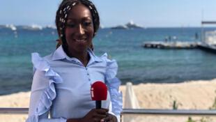 Nadège Beausson Diagne au Festival de Cannes 2019.