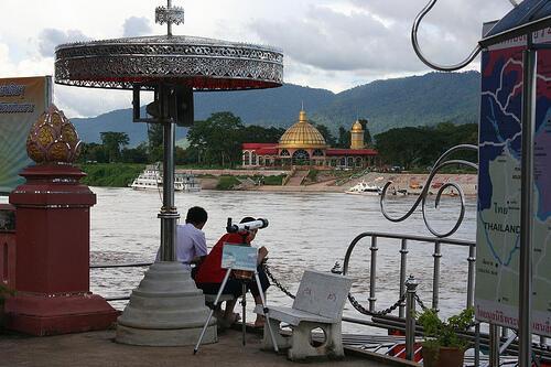 Sòng bạc Kings Romans tại Đặc khu Kinh tế Tam giác vàng ở tỉnh Bokeo, miền Bắc Lào.