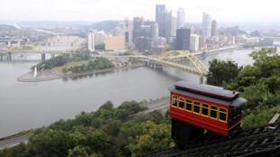 Vue du centre-ville de Pittsburgh où se déroule actuellement le sommet du G20.