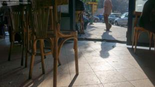 Café au Caire, la capitale égyptienne.
