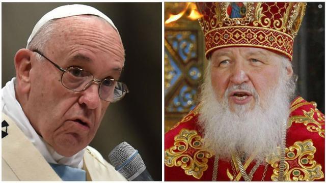 Đức giáo hoàng Phanxicô và thượng phụ Chính Thống Giáo Nga Kirill