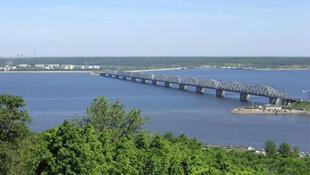 La Volga près d'Oulianovsk.