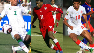 L'Algérien Soudani, le Soudanais Bakri et le Tunisien Darragi, de gauche à droite.
