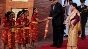 中国国家主席习近平访问尼泊尔。