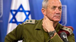 L'ancien chef d'état-major israélien Benny Gantz à une conférence à Tel-Aviv, le 28 juillet 2014.