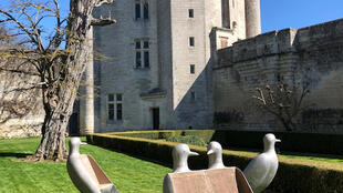 The 'turtle' seats of François-Xavier Lalanne at the Donjon de Vez in the north of France.