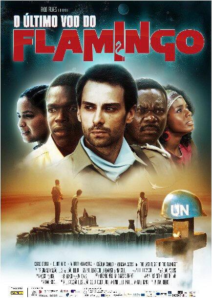 """Cartaz do filme """"O último voo do flamingo""""  de João Ribeiro."""