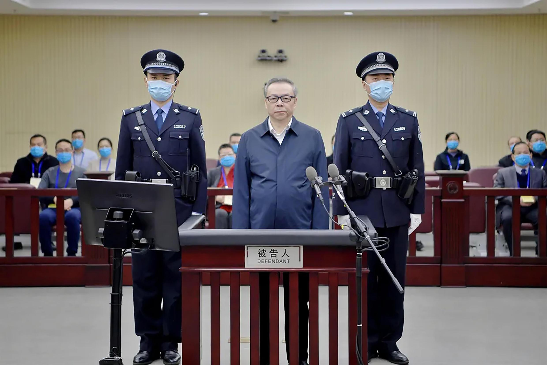 Lai Xiaomin lors d'une audience au tribunal de Tianjin, en août 2020.