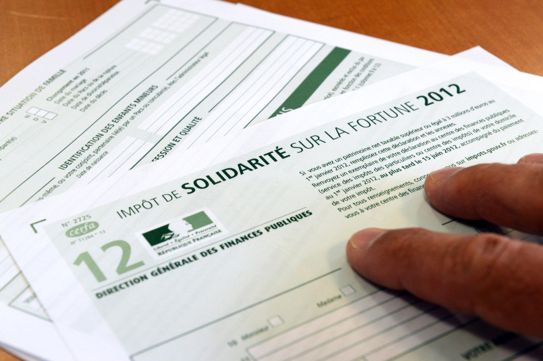 Formulário do Imposto de Solidariedade sobre a Fortuna.