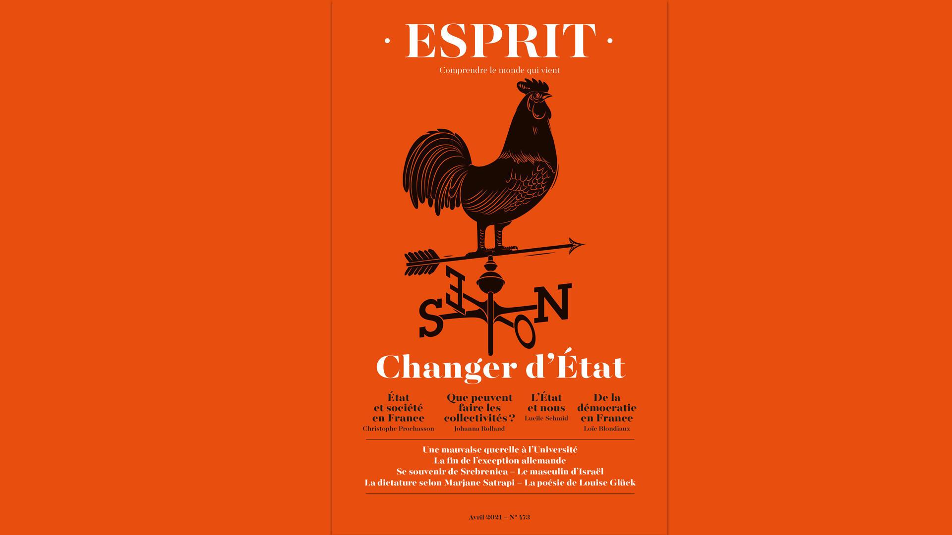 Couverture - Revue Esprit - Avril 2021 - Changer d'état - Une semaine actualité