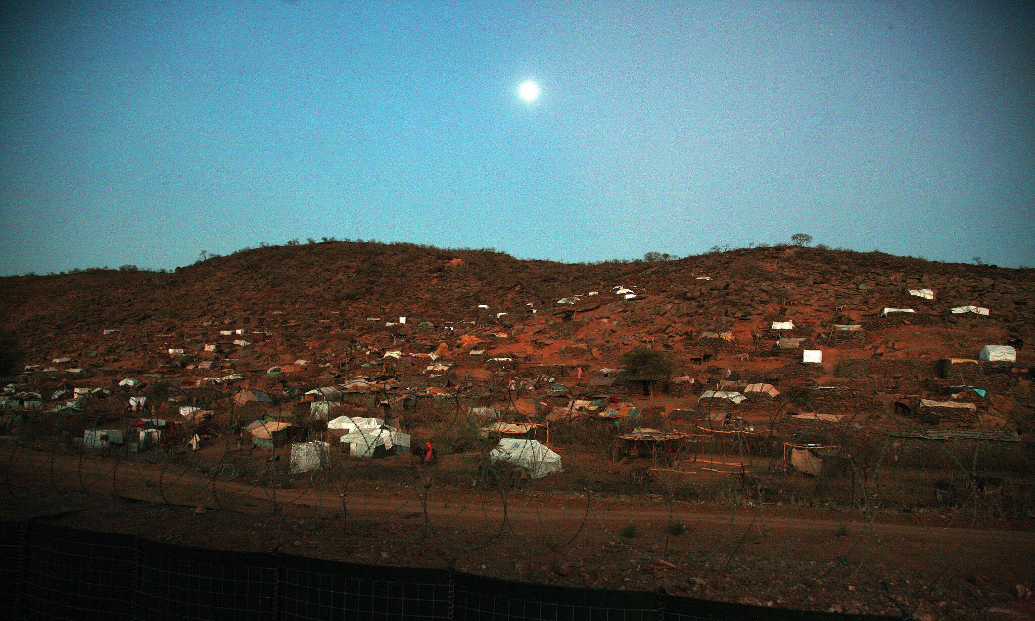 Campo de deslocados na região de Jebel Marra, em Janeiro de 2016.