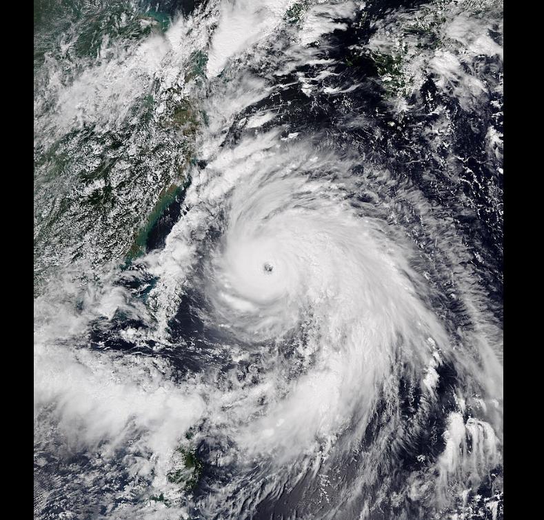 台风玲玲在登陆朝鲜前两天2019年9月5日