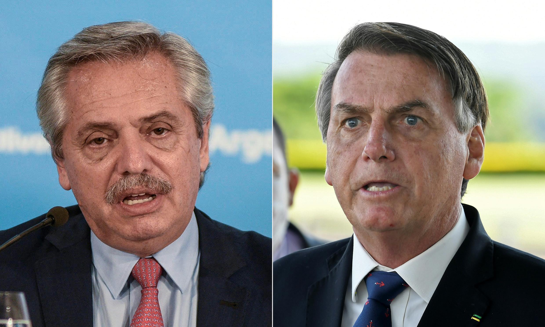 Los presidentes de Argentina y Brasil, Alberto Fernández y Jair Bolsonaro, respectivamente, tomarán parte de la cumbre virtual del Mercosur