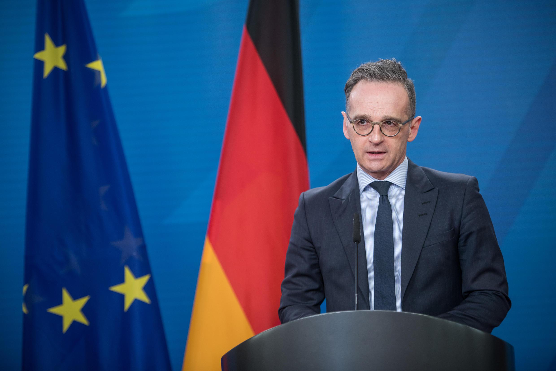 El ministro alemán Heiko Maas habla durante una conferencia el 19 de marzo de 2021 en Berlín