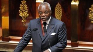 Guy Nzouba-Ndama, candidat à la présidentielle gabonaise. Ici à l'Assemblée nationale française le 5 juillet 2009, il a décidé de quitter le «perchoir» gabonais.