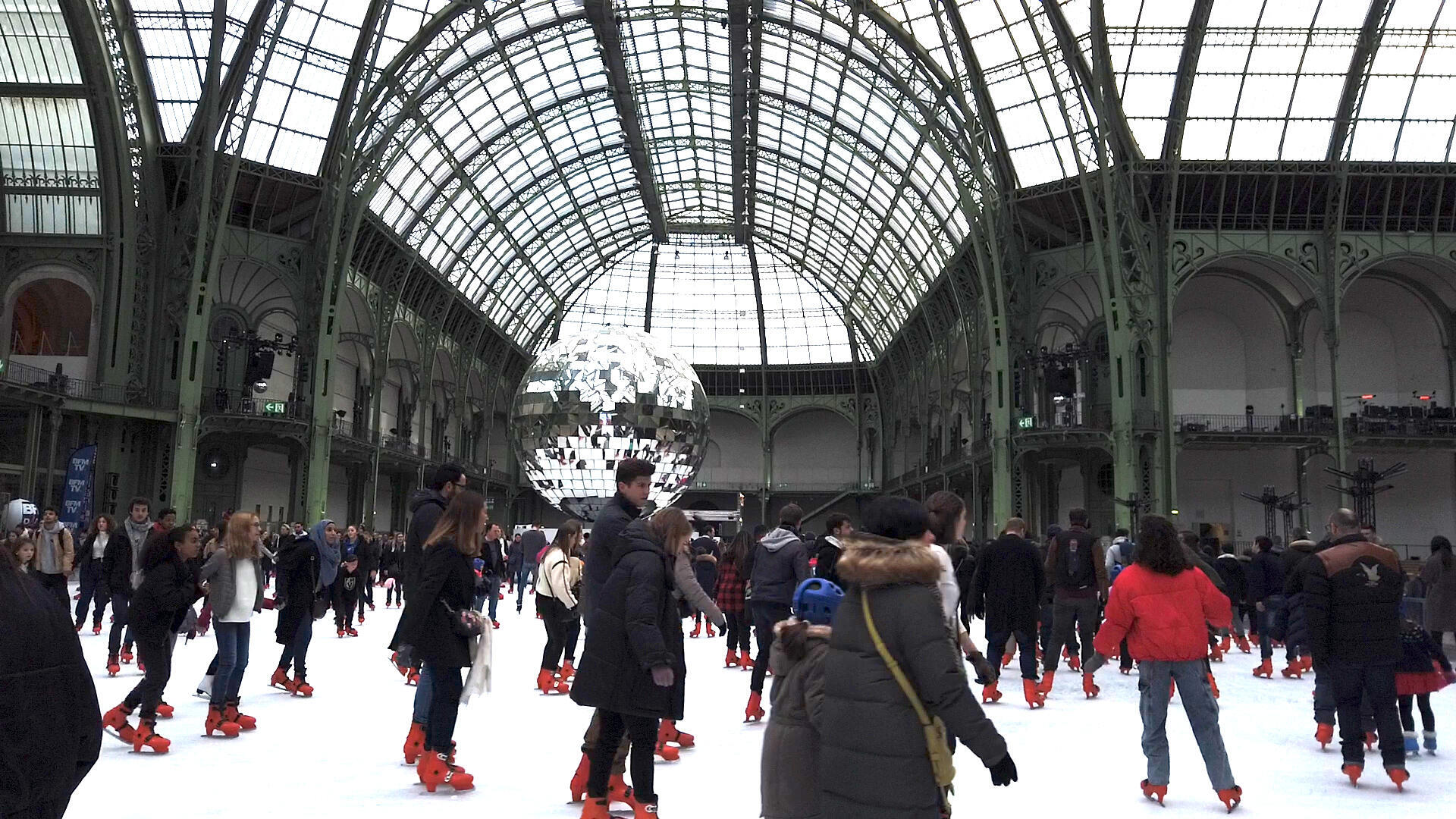 The ice skating rink this winter at the Grand Palais was advertised as the largest indoor rink in the world