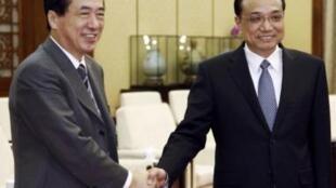 中國副總理李克強2010年3月3日會見日本財務大臣菅直人